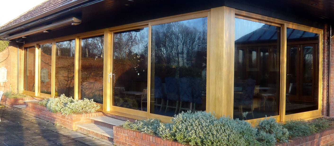 Peveril lift and slide wooden windows fitted by timber window manufacturer Gowercroft Joinery