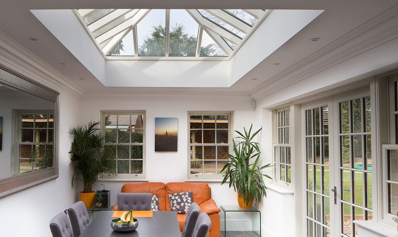 accoya roof lantern bespoke designed and build for a beautiful home with accoya windows and dooors fitted