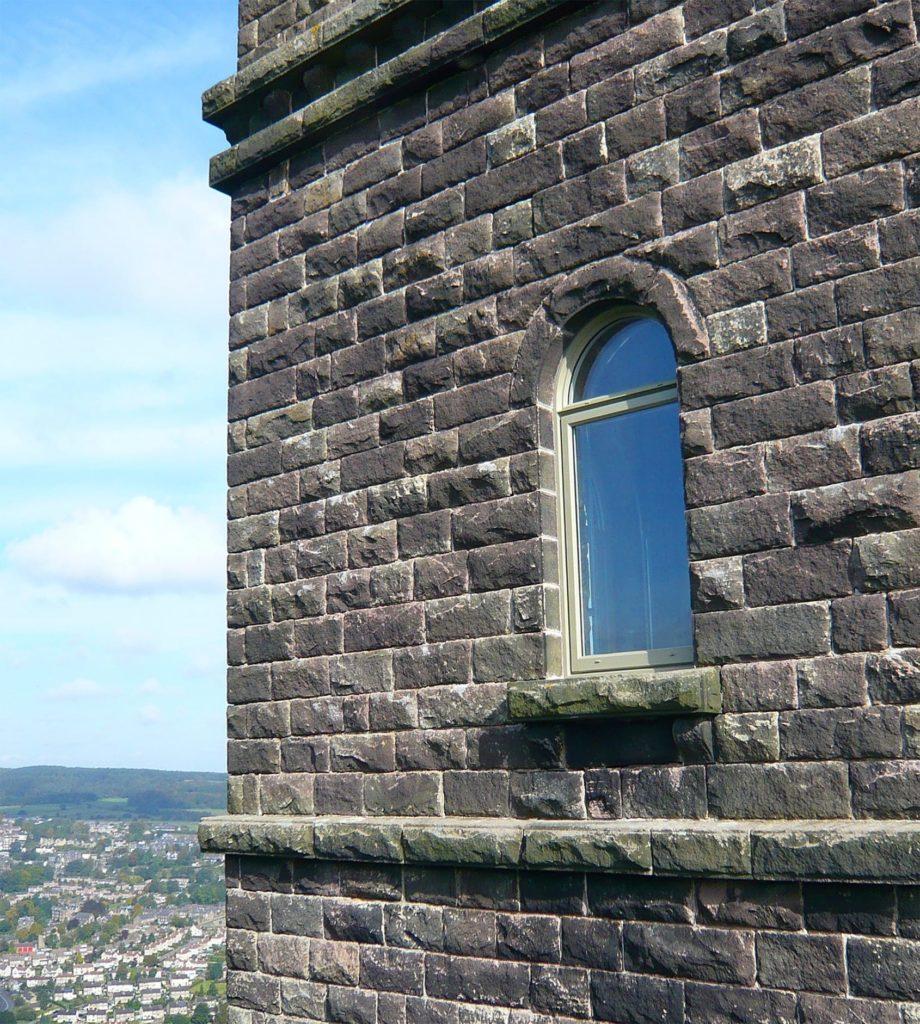 Timber window in Riber Castle, Matlock, Derbyshire